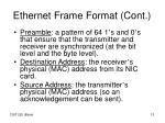 ethernet frame format cont