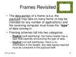 frames revisited