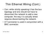 thin ethernet wiring cont