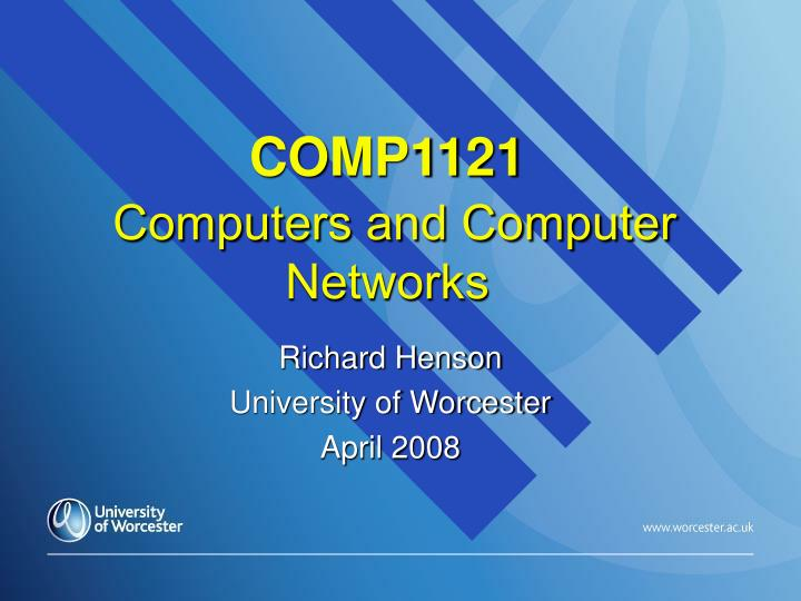 comp1121 computers and computer networks n.