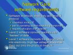 network card software requirements