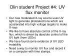 olin student project 4 uv flux monitor