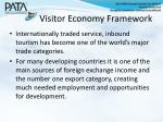 visitor economy framework