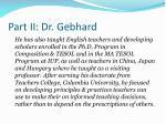 part ii dr gebhard
