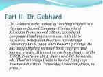 part iii dr gebhard