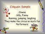 cinquain sample