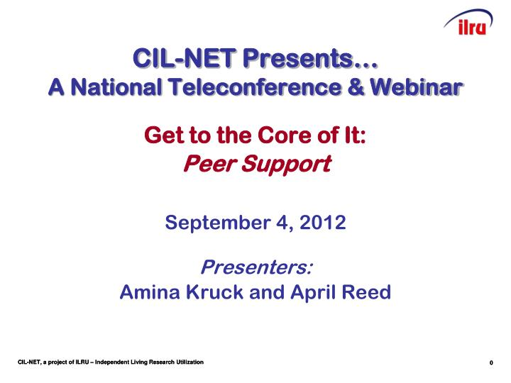 cil net presents a national teleconference webinar n.
