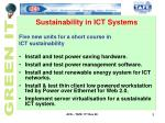 sustainability in ict systems1