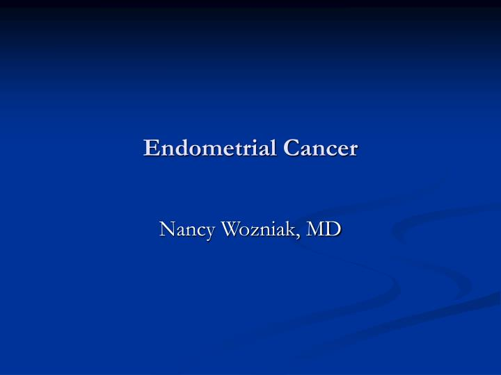 endometrial cancer n.