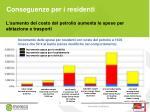 conseguenze per i residenti
