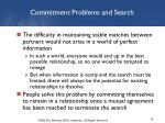 commitment problems and search1