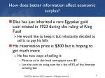 how does better information affect economic surplus