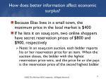 how does better information affect economic surplus1