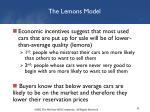 the lemons model