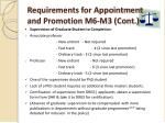 requirements for appointment and promotion m6 m3 cont
