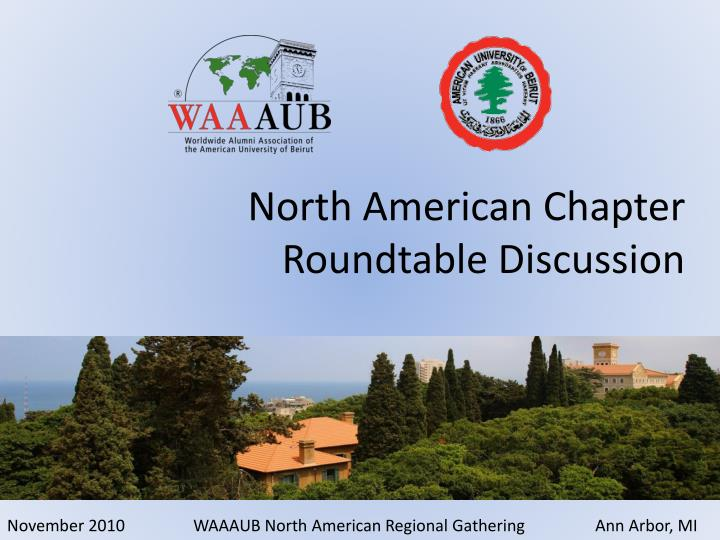 north american chapter roundtable discussion n.