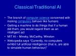 classical traditional ai