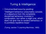 turing intelligence