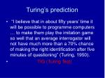 turing s prediction