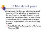 1 st educators peace
