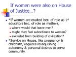 if women were also on house of justice