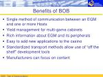 benefits of bob