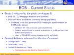 bob current status