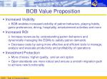 bob value proposition