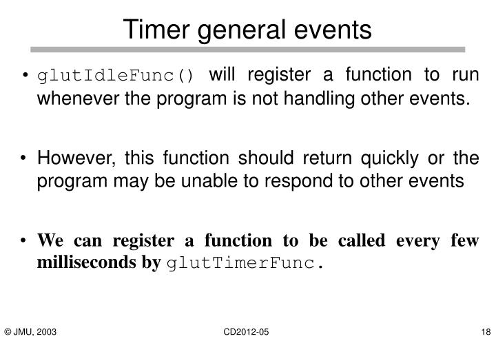 Timer general events