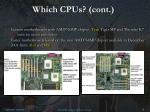 which cpus cont