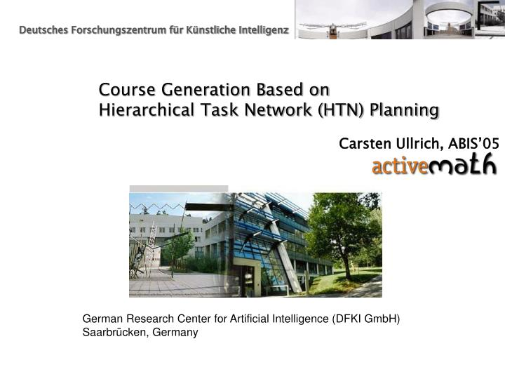 course generation based on hierarchical task network htn planning n.