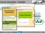 course generation example