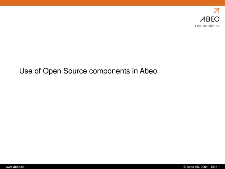 use of open source components in abeo n.