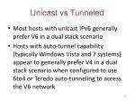 unicast vs tunneled