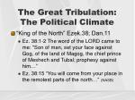 the great tribulation the political climate