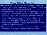 the war starts5