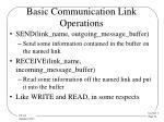 basic communication link operations