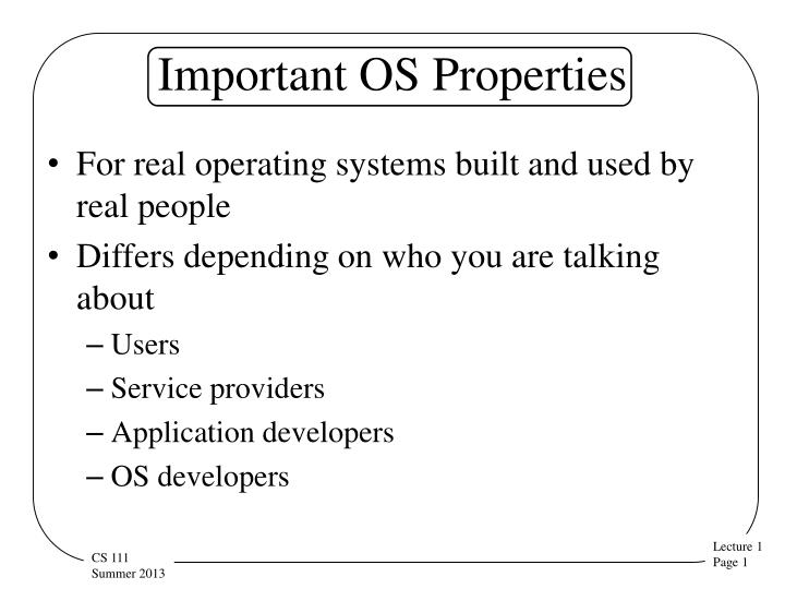 important os properties n.