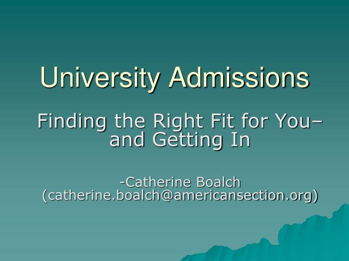 university admissions n.