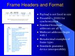 frame headers and format