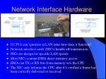 network interface hardware