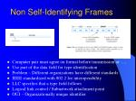 non self identifying frames