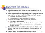 document the solution