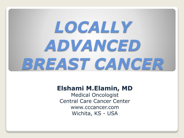 locally advanced breast cancer n.