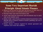 some very important shariah principle about islamic finance