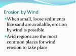 erosion by wind