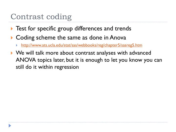Contrast coding