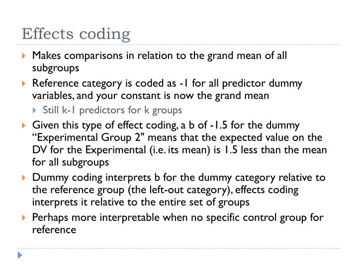 Makes comparisons in relation to the grand mean of all subgroups