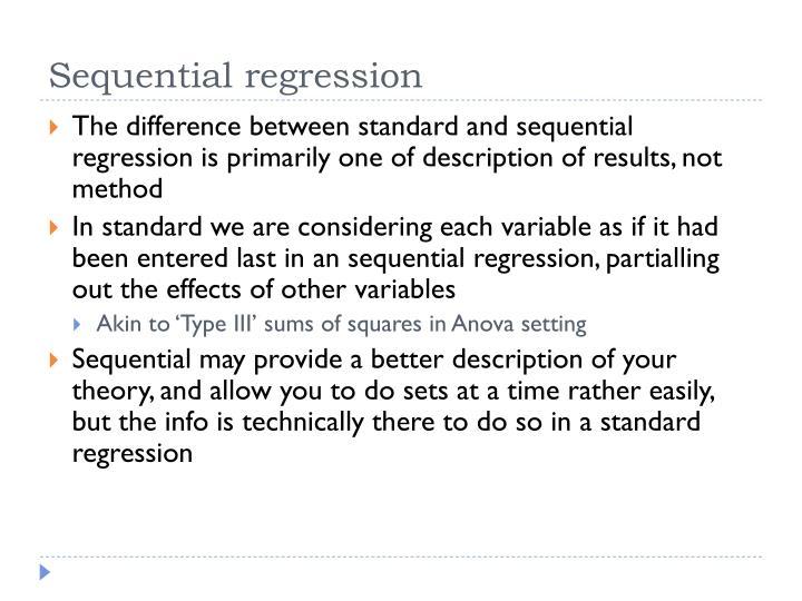 Sequential regression