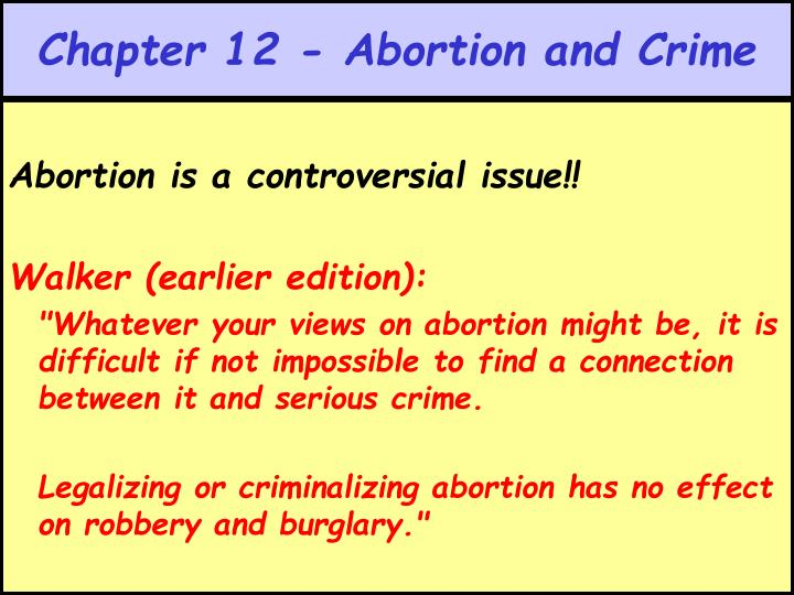 chapter 12 abortion and crime n.